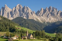 village dolomites mountain walking italy europe